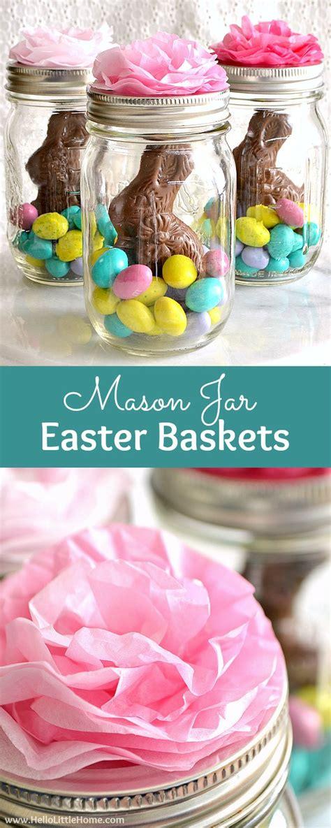 mason jar easter baskets cute easy   home
