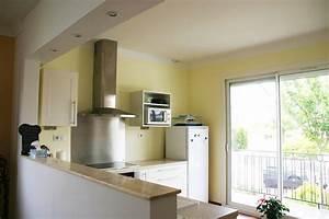 modification cuisine ouverte sur sejour renoveo With photo de cuisine ouverte sur sejour
