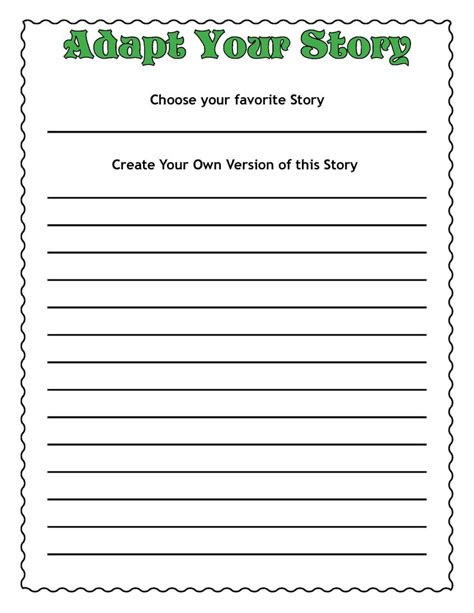 a common worksheet to create your own story common common cores