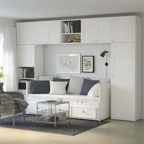hemnes day bed  drawers   wardrobe system  small space bigger   easily