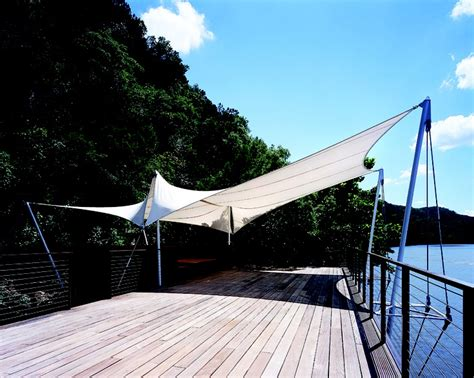 tensioned fabric shade structure odessa landscaping