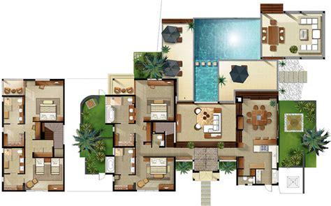 villa house plans disney villas floor plan resort villa floor