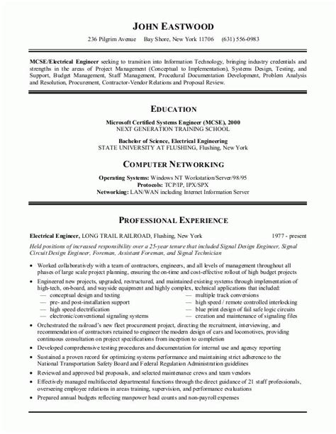 best information technology resume format sle resumes information technology or it resume