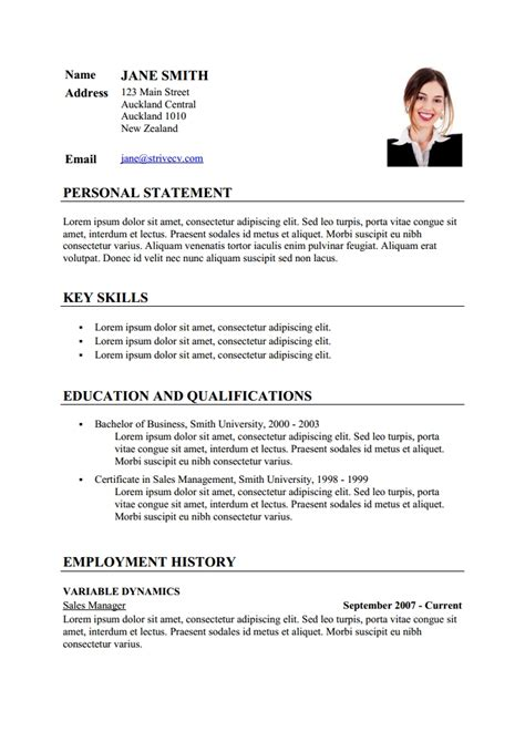 curriculum vitae layout template sample cv resume template via format curriculumvitae