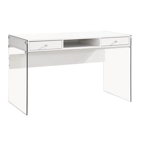 coaster computer desk white coaster 2 drawer modern computer desk in glossy white 800829