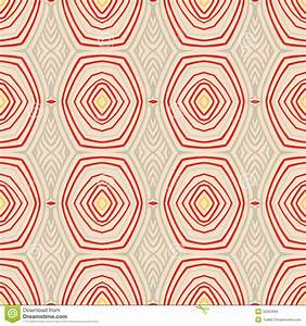 Retro Pattern With Oval Shapes In 1950s Style Stock