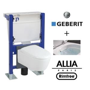 wc suspendu b 226 ti geberit avec cuvette allia lovely rimfree car 233 n 233 e