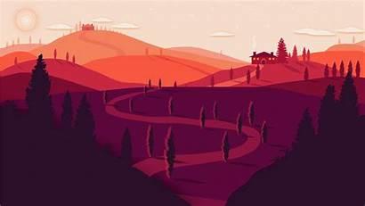 4k Landscape Summer Minimal Wallpapers Sunset Tuscany