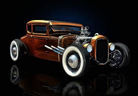 Golden Brown Hot Rod Digital Art By Rat Rod Studios