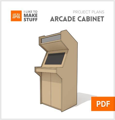 one cabin plans arcade cabinet digital plan i like to stuff