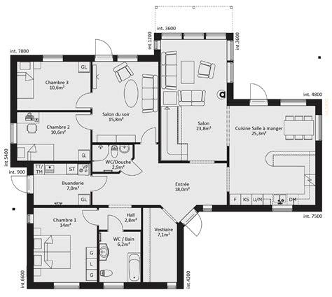 plan de maison 4 chambres plain pied gratuit plan de maison plain pied 4 chambres gratuit plan