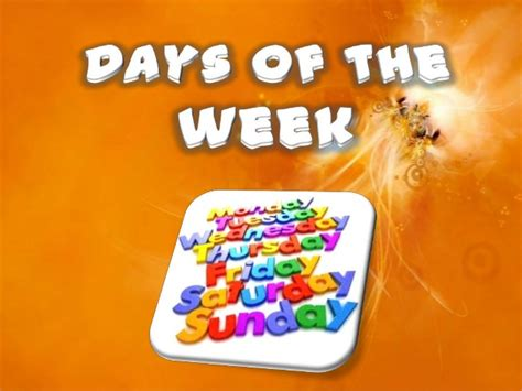 4. Days Of The Week (today, Yesterday, Tomorrow