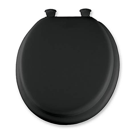 cushioned elongated toilet seat mayfair padded toilet seat in black bed bath beyond 6335