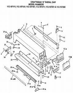 Craftsman Radial Arm Saw Guard Parts
