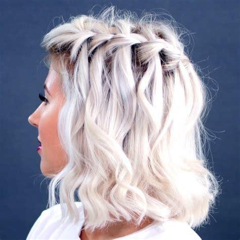 waterfall braid short hair fashion hair