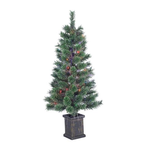national tree company 36 in fiber optic fireworks artificial christmas tree with star