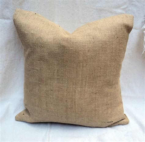 burlap throw pillows lined burlap shams burlap pillow 26 x 26