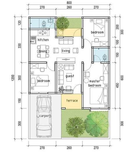 denah rumah minimalis  kamar tidur desain minimalis