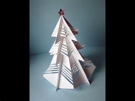 3d weihnachtsbaum aus papier basteln youtube