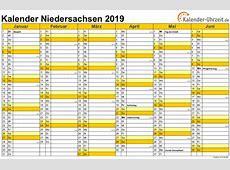Feiertage 2019 Niedersachsen + Kalender