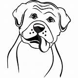 Boxer Dog Coloring Pages Face Template Templates Sketch sketch template