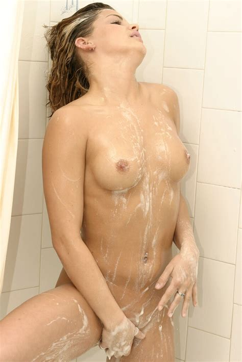Sexy Blonde Lady Teasing Under The Shower XBabe