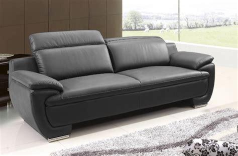 canape italien contemporain canapé 3 places en cuir italien rimini noir mobilier privé