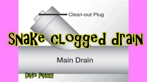 snake  clogged sink drain pipe youtube