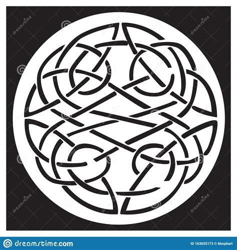 A Celtic Knot And Pattern In A Circle Design Stock Vector ...