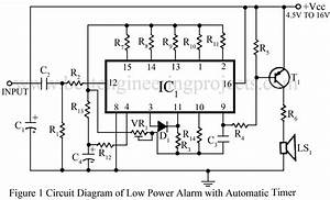 low power alarm with automatic timer best engineering With low power circuit