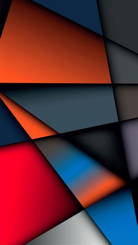 Abstract Geometric Shapes Background by Abstract Multicolor Geometry Shape Iphone 5s Wallpaper