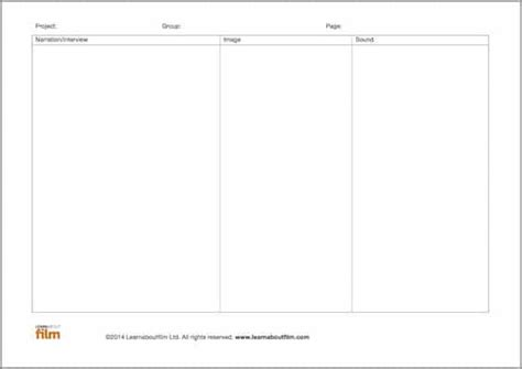 documentary script template planning templates learn about