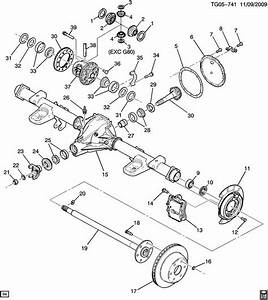 98 Gmc Rear Axle Assembly Diagram