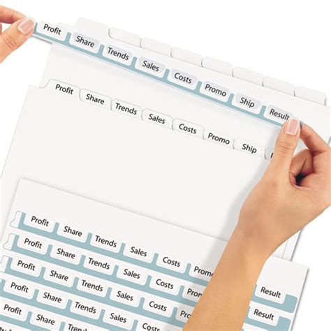 avery 11447 template avery 11447 index maker print apply clear label dividers with white tabs