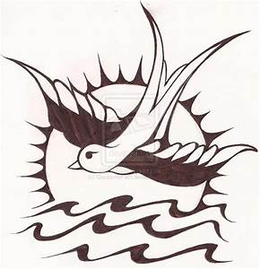 Traditional Sparrow Tattoo Outline | www.pixshark.com ...