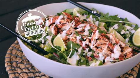 recette de cuisine salade de poulet tandoori cuisine futée parents pressés