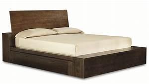 White Wooden Bed Built In Storage Using Dark Green Bedding