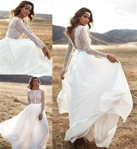 Dress Boho Wedding Dresses Beach Wedding Dress Backless
