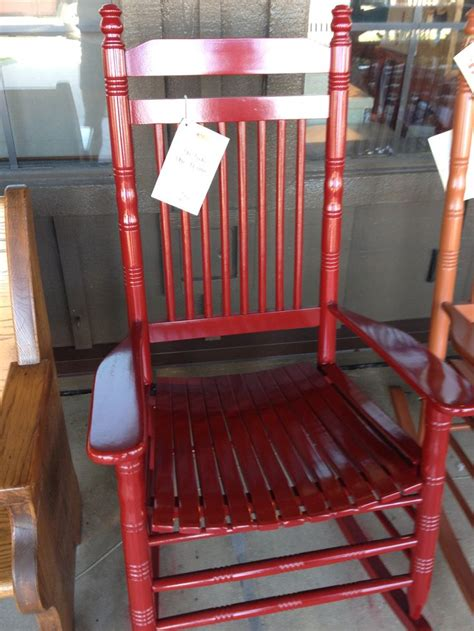 red rocking chair from cracker barrel patio outdoor
