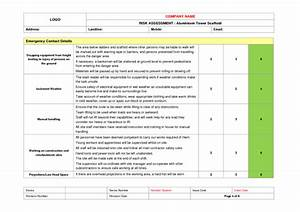 Tower scaffold erection risk assessment example to download for Scaffolding risk assessment template