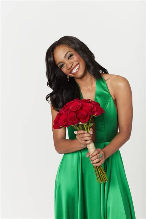 rachel lindsay dress star bachelorette roses clutching halterneck bouquet emerald laughing dressed reality while realitytvworld 1649