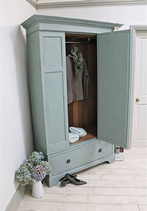 vintage painted wardrobe  distressed   forsaken