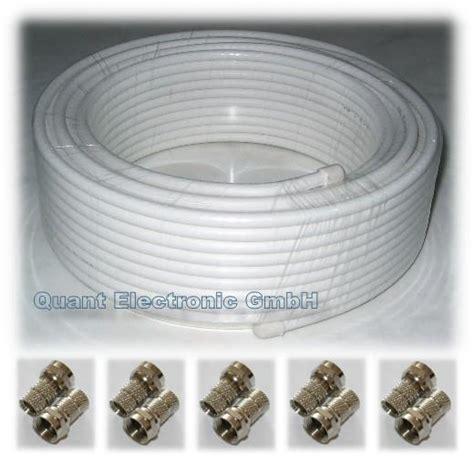 sat kabel 20m koax sat kabel 20m gt 90db 10 f stecker digitaltauglich neu sat systeme 10033181