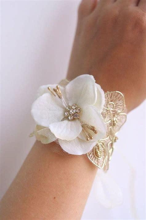 bridal flower wrist corsage wedding floral bracelet
