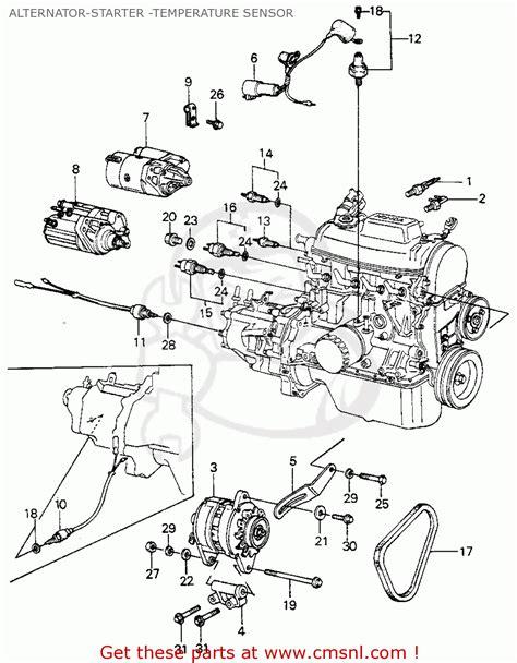 1980 Honda Accord Belt Diagram by Honda Civic Htbk Wagon 1980 A 3dr1500 Ka Kh Kl