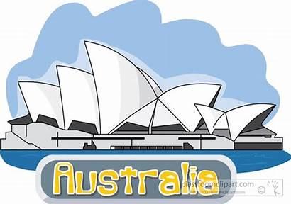Opera Sydney Clipart Australia Australian Clip Vector
