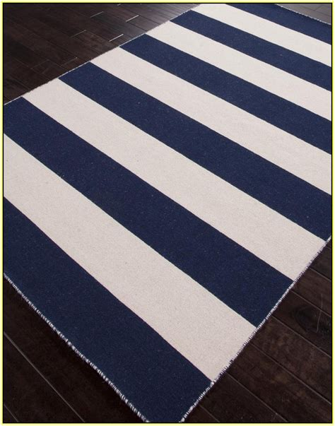 white and navy rug navy blue and white striped rug home design ideas