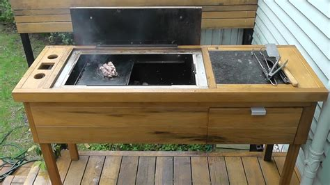 homemade bbq build diy woodcharcoal barbecue part