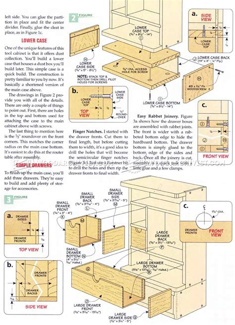 rotary tool cabinet plans woodarchivist