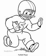Football Coloring Pages Sheets Printable Player Boys Sports sketch template